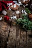 Hete Chocolade Martini met heemst Stock Fotografie