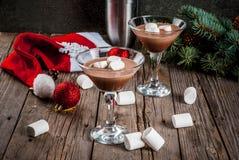 Hete Chocolade Martini met heemst Stock Afbeelding