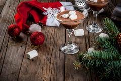Hete Chocolade Martini met heemst Royalty-vrije Stock Afbeelding