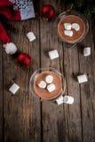 Hete Chocolade Martini met heemst Stock Afbeeldingen