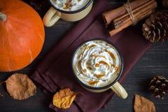Hete Chocolade met Autumn Spices Royalty-vrije Stock Foto