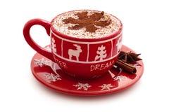 Hete chocolade voor Kerstmisdag Royalty-vrije Stock Fotografie