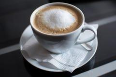 Hete coffe, zachte nadruk Stock Foto's