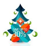 Hete de bevorderingsmarkeringen van de overeenkomstenverkoop, kentekens voor Kerstmis Royalty-vrije Stock Afbeeldingen