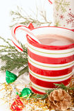 Hete de chocoladedrank van Kerstmis Stock Afbeelding