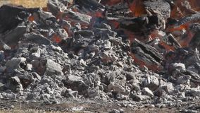 Hete die brazils van brand met brand wordt aangestoken stock videobeelden
