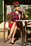 Hete donkerbruine vrouw Royalty-vrije Stock Fotografie