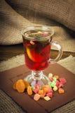 Hete dranken, rode thee, munt Stock Foto