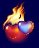 Hete en koude harten Royalty-vrije Stock Afbeelding
