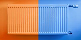 Hete en koude radiator royalty-vrije stock afbeelding