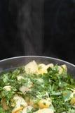 Hete gekookte aardappels Royalty-vrije Stock Foto