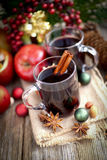 Hete gekruide wijn Stock Foto's