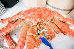 Hete Gestoomde koning Crab Royalty-vrije Stock Fotografie