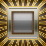 Hete grijze metaalachtergrond Royalty-vrije Stock Foto's