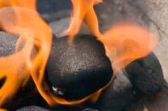 Hete grill voor barbecue stock afbeeldingen
