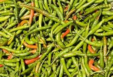 Hete Groene paprika's Royalty-vrije Stock Afbeeldingen