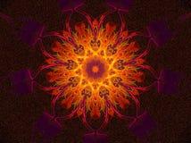Hete het gloeien mandala royalty-vrije illustratie