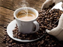 Hete koffie royalty-vrije stock foto's