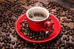 Hete koffie - caffè caldo Stock Foto