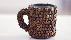 Hete koffie in de ochtend stock videobeelden