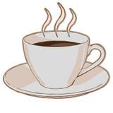 Hete koffie in een kop royalty-vrije illustratie