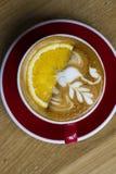 Hete koffie Latte royalty-vrije stock afbeelding