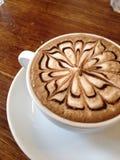 Hete koffie met art. Royalty-vrije Stock Afbeeldingen
