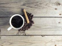 Hete koffiekop royalty-vrije stock fotografie