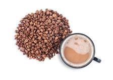 Hete koffiekop met het knippen van weg Royalty-vrije Stock Afbeelding