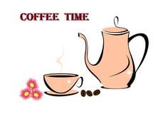 Hete koffietijd Royalty-vrije Stock Afbeeldingen