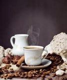 Hete koffietijd Royalty-vrije Stock Foto's