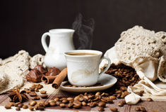 Hete koffietijd Royalty-vrije Stock Foto