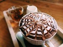 Hete latte Royalty-vrije Stock Foto's