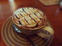Hete latte coffe Royalty-vrije Stock Foto
