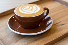 Hete latte twee Royalty-vrije Stock Foto's