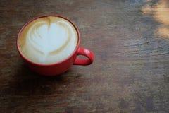 Hete lattekoffie Royalty-vrije Stock Afbeelding
