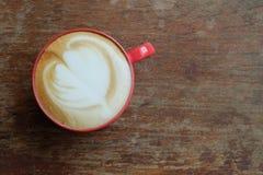 Hete lattekoffie Stock Fotografie