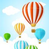 Hete Lucht Achtergrondkaart Vector Royalty-vrije Stock Afbeelding