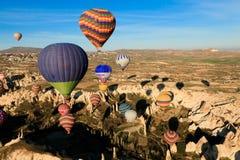 Hete lucht ballooning gebeurtenis stock foto