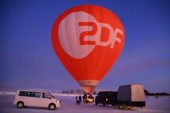 Hete lucht het ballooning in Finland stock afbeelding