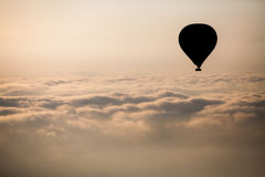 Hete Luchtballon in Cappadocia stock foto's