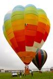 Hete luchtballon die - opstijgt Royalty-vrije Stock Foto