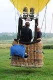 Hete luchtballon en mand Royalty-vrije Stock Foto