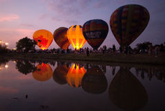 Hete luchtballon in Internationaal de Ballonfestival 2009 van Thailand Royalty-vrije Stock Foto's