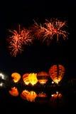 Hete luchtballon in Internationaal de Ballonfestival 2009 van Thailand Stock Foto's
