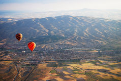 Hete Luchtballon Kapadokya Turkije Royalty-vrije Stock Afbeelding