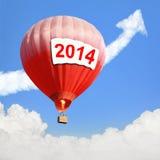 Hete Luchtballon met groot aanplakbord Royalty-vrije Stock Foto