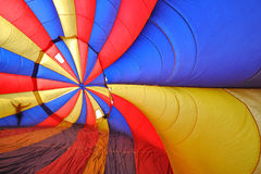 Hete luchtballon van binnenuit Royalty-vrije Stock Afbeeldingen