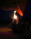 Hete luchtballon van Luxor bij nacht stock afbeelding