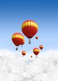 Hete Luchtballons boven de Wolken Royalty-vrije Stock Afbeelding